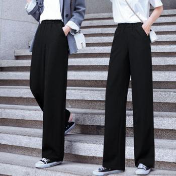 阔腿裤女雪纺休闲裤高腰宽松显瘦休闲直筒裤西裤坠感拖地长裤