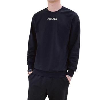 男士长袖t恤圆领上衣服帅气潮流卫衣打底衫ZY5820
