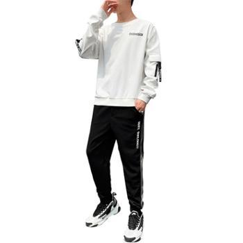 圆领卫衣男韩版潮流男装一套帅气长袖衣服休闲套装KXPY112+K110
