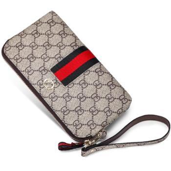 时尚手拿包女士钱包长款零钱包多功能手机包大容量手抓包