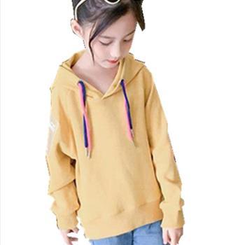 女童秋装卫衣韩版潮儿童装小女孩超洋气时髦宽松上衣