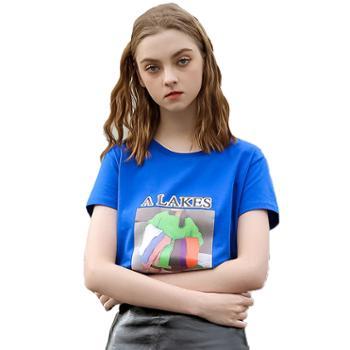 休闲运动短袖女士T恤衫FNMST22-605
