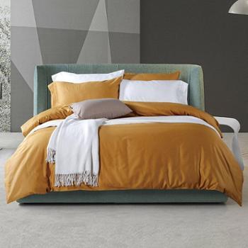 新款全棉全棉床上用品四件套素色60支埃及长绒棉新款