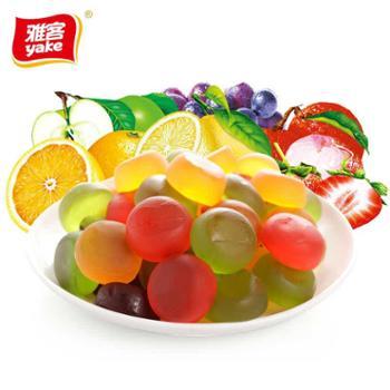 雅客美嚼橡皮糖5*100g装果汁软糖多口味糖果儿童零食qq糖约100颗