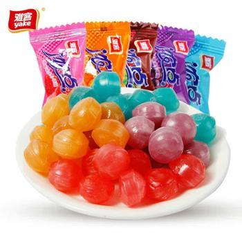 雅客水果糖硬糖500g浓点夹心水果糖混合水果味散装