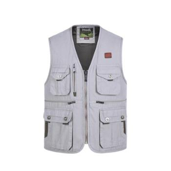 Aeroline秋冬季男式中老年爸爸装厚款户外休闲多口袋帆布马甲