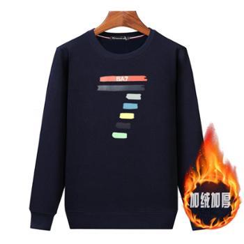 Aeroline秋冬新款T恤长袖休闲厚款宽松保暖套头卫衣05款