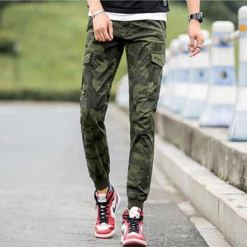 Aeroline秋装工装裤男潮牌青年修身小脚裤户外直筒休闲裤男士多口袋长裤子