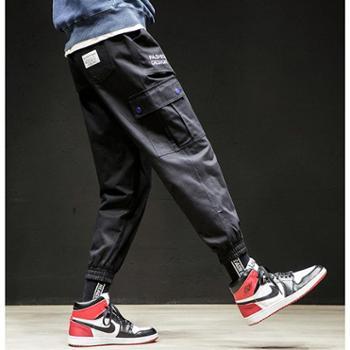 Aeroline工装裤男士韩版潮流休闲裤子口袋运动裤潮牌哈伦束脚长裤卫裤