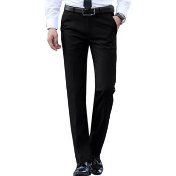Aeroline春款男士西裤高腰休闲直筒正装裤