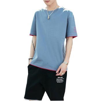 Aeroline夏装男士短袖套装宽松T恤休闲五分运动裤