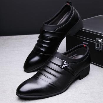 牧惠森 皮鞋男鞋男士英伦商务休闲鞋正装皮鞋