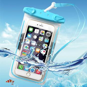 水下温泉防水拍照手机防水袋温泉游泳手机通用iphone7plus触屏包6s潜水套