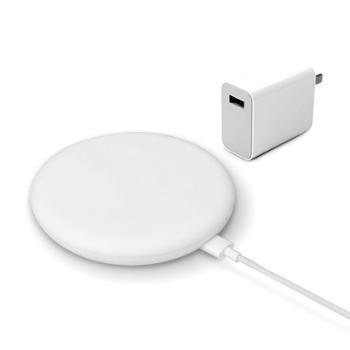 小米(MI)20W无线充电器套装版 白色(包含27w充电器及数据线)高速无线充套装智能快充头 小米无线充 小米无线充电器 小米无线快充