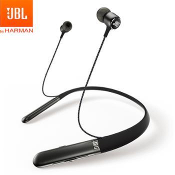 JBL 无线蓝牙耳机 颈挂入耳式运动耳机 磁吸带麦 苹果安卓通用 LIVE 200BT
