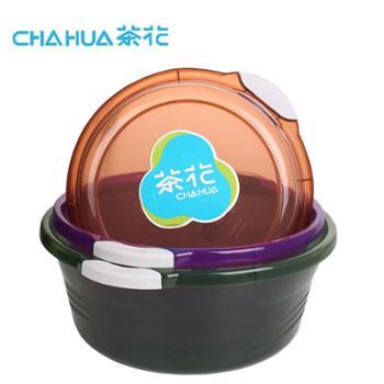 茶花透明脸盆塑料盆便携带把手脸盆加厚大号洗菜盆婴儿宝宝脸盆