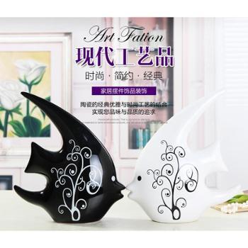 天天特价客厅工艺品家居装饰摆设摆件结婚礼物爱情对吻鱼家装饰品