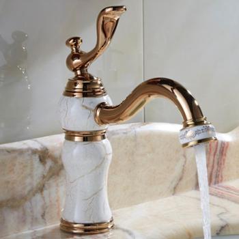 仿古龙头欧式面盆陶瓷盆龙头全铜冷热陶瓷盆龙头