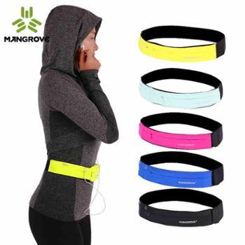 曼哥夫户外跑步手机腰包男女多功能运动腰包健身防水隐形贴身腰带