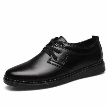 男鞋秋季潮鞋男士休闲商务黑色英伦韩版工作小皮鞋男上班鞋爸爸鞋