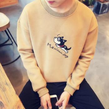 男士t恤长袖韩版上衣服 男装秋季薄款学生秋衣青少年卫衣打底衫潮