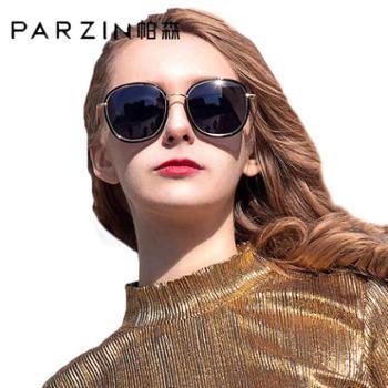 帕森偏光太阳镜女士时尚大框彩膜复古墨镜女新款9905