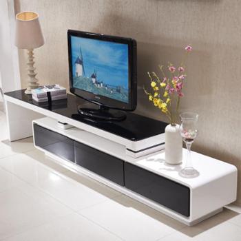 电视柜钢化玻璃电视柜现代简约客厅玻璃电视柜黑白钢琴烤漆