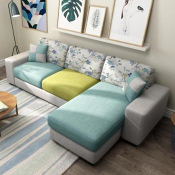 现代可拆洗布艺沙发简约小户型沙发组合客厅家具沙发