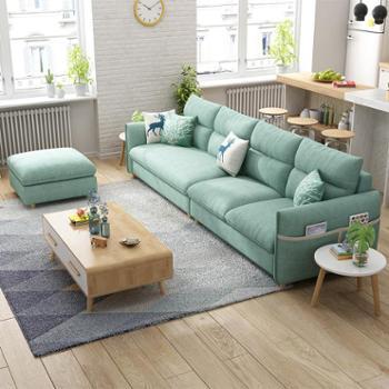 11.11新款布艺沙发四人位三人位中小户型直排沙发现代简约北欧整装
