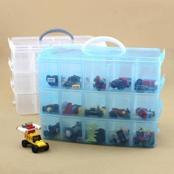 塑料玩具车模大号多层透明收纳箱多功能储物箱乐高积木储物整理箱塑料玩具车模