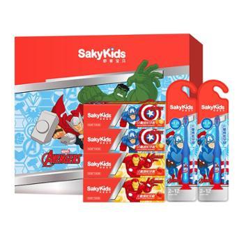 舒客可吞咽儿童牙膏60g*4支 儿童牙刷细软毛2支