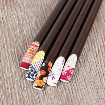 佰润居日式尖头木筷子情侣筷子2双装创意个性实木家用厨房用具指甲筷寿司料理木质筷防滑