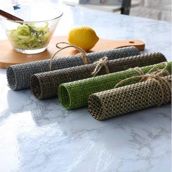 佰润居欧式防水防滑PVC西餐垫2个家用餐桌隔热餐具碗盘垫子长方形简约餐垫