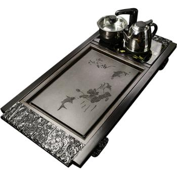实木茶盘套装+电磁炉