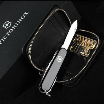 VICTORINOX/维氏原装进口瑞士军刀礼盒套装GB18B(1.3703.3+黑色牛皮..