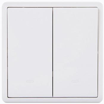 施耐德(Schneider)开关插座开关面板双开单控开关16A带荧光指示开关丰尚系列白色