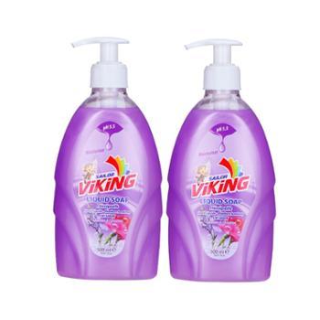 【2瓶装】土耳其进口ViKing蔚净温和洗手液(薰衣草&康乃馨混合香味500ml/瓶)