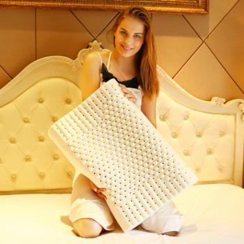 天然颗粒乳胶枕芯护颈椎面包成人枕头(送内外套)