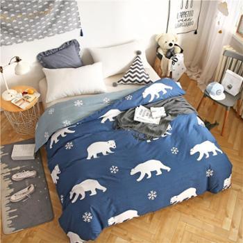全棉被套被罩纯棉被罩全棉单人学生宿舍寝室双人单被套160*210cm