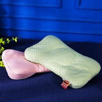 oukk欧康家纺全棉绗缝小米壳枕头全小米壳枕芯护颈枕单人硬枕