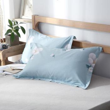 oukk欧康家纺全棉枕套包邮一对纯棉枕头套成人4874cm枕芯套单人用枕套