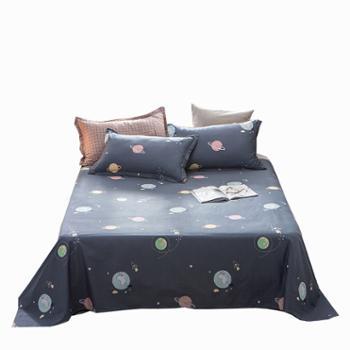 普马狮流浪地球全棉床单单件纯棉单双人学生宿舍床上用品