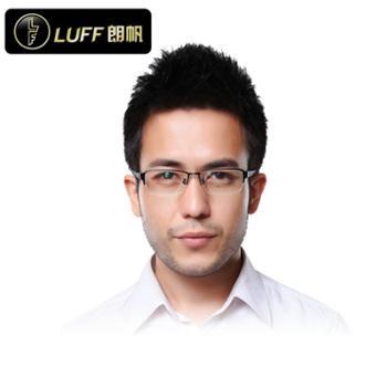 朗帆LuFF 商务纯钛镜框镜架 品质近视眼镜框架男 专业光学配镜8153