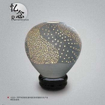 陶艺灯磁州窑陶瓷镂空手工艺术精品陶瓷艺术品获奖作品
