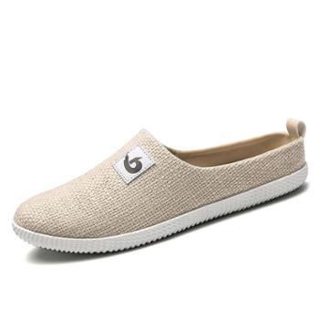 羊骑士夏天半托布鞋男鞋子外穿潮拖鞋男士包头凉鞋夏季室外凉拖鞋学生鞋