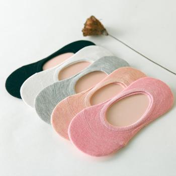 SNI女士全棉薄袜百搭浅口船袜袜子5双350