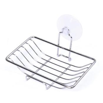 优利洁不锈钢吸盘长款肥皂盒壁挂肥皂架沥水香皂盒