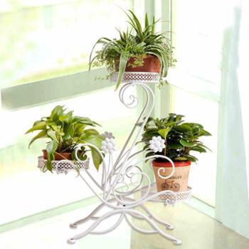 花架铁艺多层特价阳台室内落地绿萝花架子欧式简约客厅吊兰花盆架