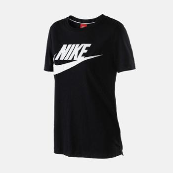 Nike耐克2018女子针织圆领透气宽松T恤829748