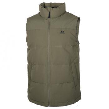 阿迪达斯 Adidas 男装外套马夹冬季新款运动服保暖背心羽绒马甲 EH4000